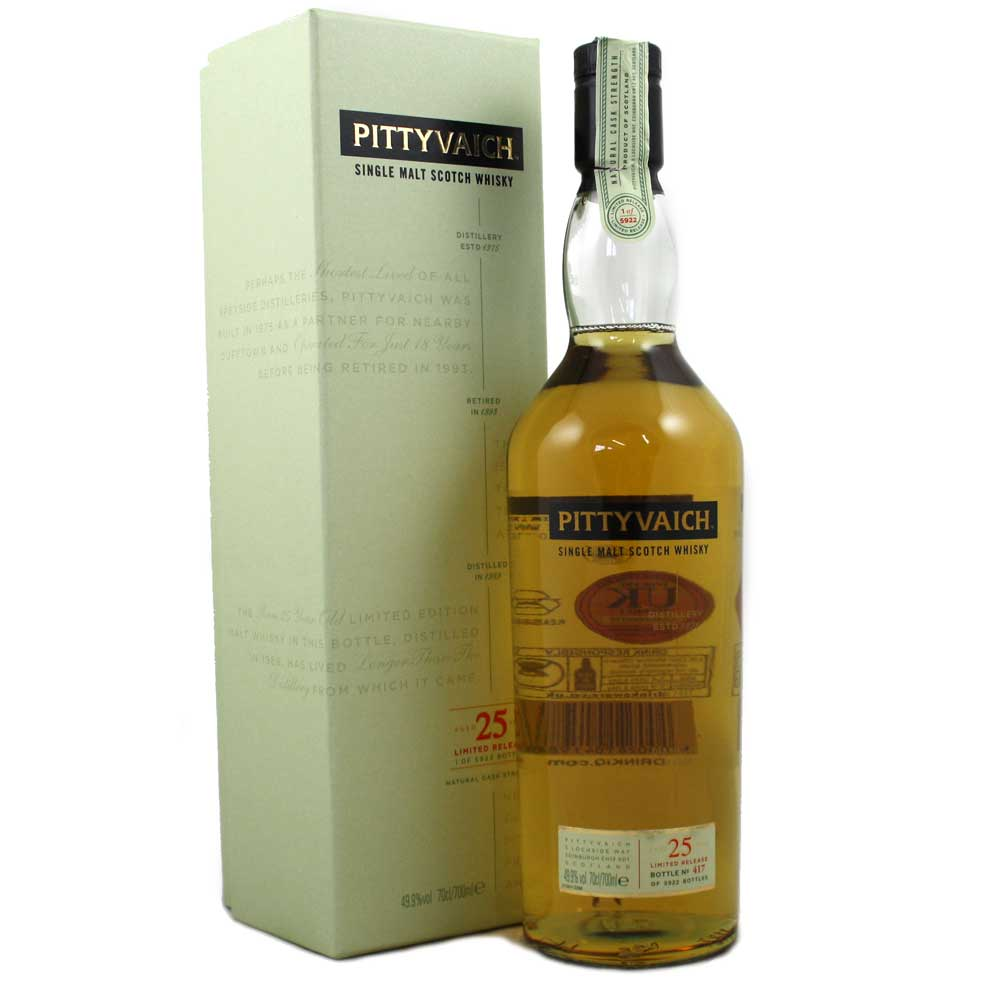Pittyvaich 1989 25 Year Old - 49.9% - 2015 Release