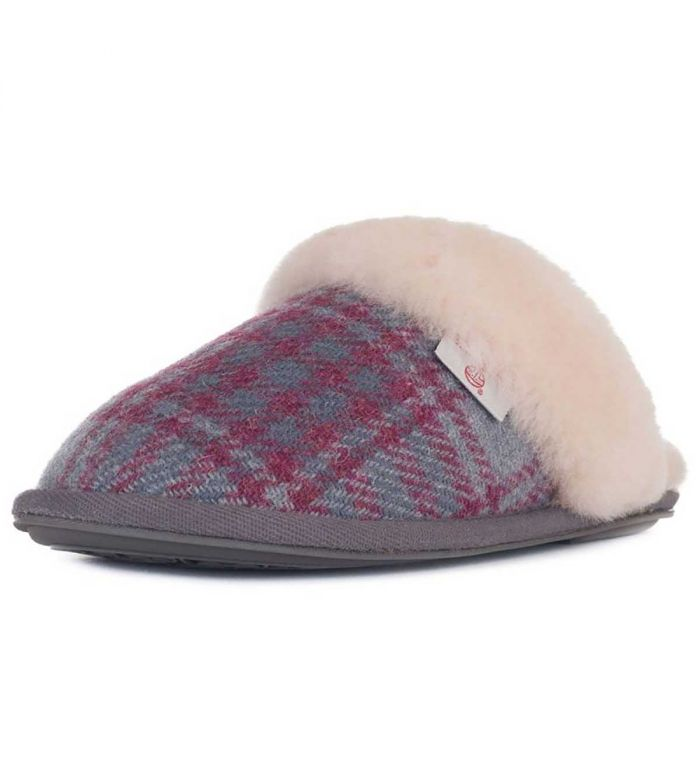 Harris Tweed Slippers And Slipper Boots