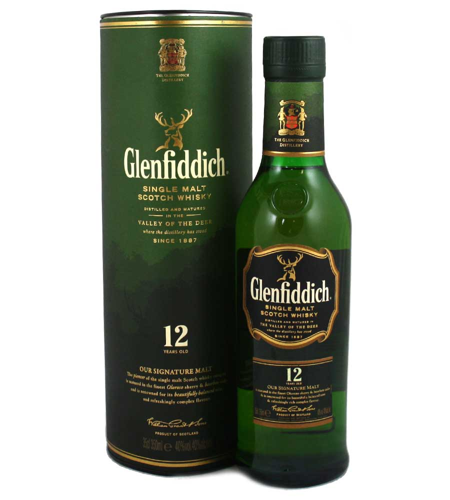 Glenfiddich 12 Year Old Whisky - 35cl