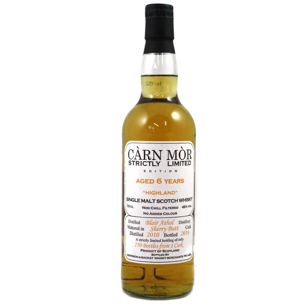 Blair Athol 2010 6 Year Old Carn Mor Strictly Limited